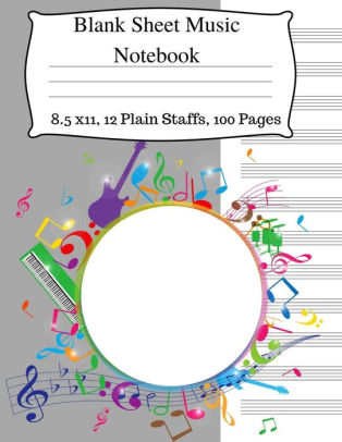 Blank Sheet Music Notebook Music Manuscript Notebook, Staff Music