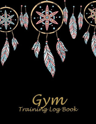 Gym Training Log Book Black Book, 2019 Weekly Meal And Workout