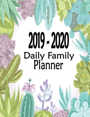 2019-2020 Daily Family Planner Two-Year Academic Planner 24-Month