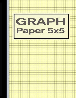 Graph Paper 5x5 Grid Quad Ruled Notebook for Graphing - Yellow by