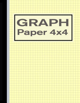 Graph Paper 4x4 Quad Rule 1/4 Inch Squares Notebook - Yellow by