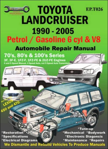 Toyota Landcruiser 1990-2005 Auto Repair Manual Petrol/Gasoline 6