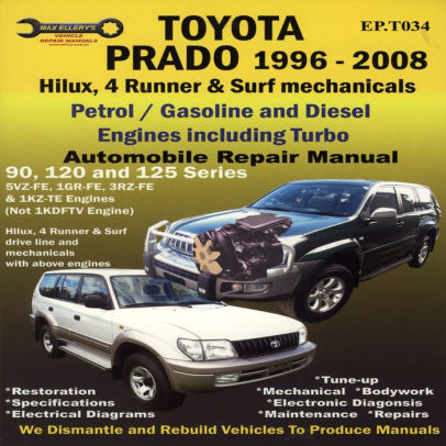 Toyota Prado 1996-2008 Automobile Repair Manual Hilux, 4 Runner