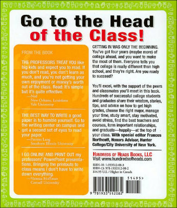 How to Get A\u0027s in College Hundreds of Student-Tested Tips by