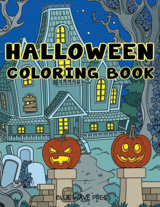 Halloween Coloring Book Halloween Designs Adult Coloring Book by