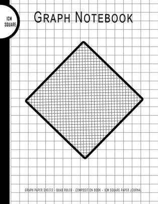 Graph Notebook Graph Paper Sheets - Quad Ruled - Composition Book