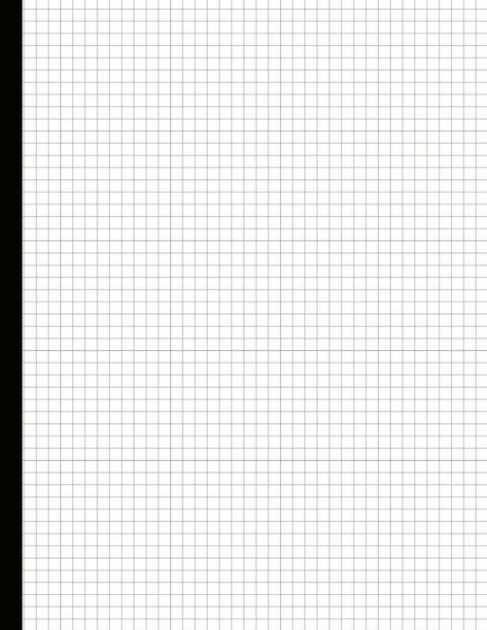Just Graph Paper Quadrille paper1/4 Inch Grid Paper 200 sheets by