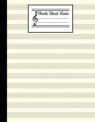 Blank Sheet Music Blank Staff Paper - 12 Stave Blank Sheet Music