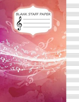 Blank Staff Paper Large Print(85\