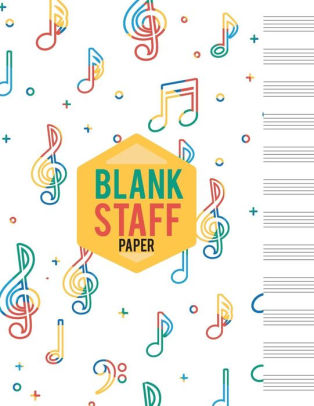 Blank Staff Paper 12 Stave Blank Sheet Music Paper - Large Print