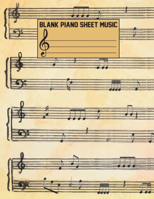 Blank Piano Sheet Music Composition Book - Blank Staff Paper (Large