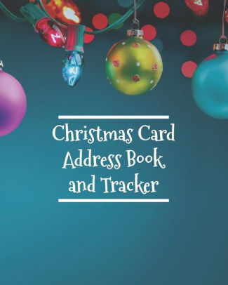 Christmas Card Address Book and Tracker Address Book For Christmas - how to address christmas cards