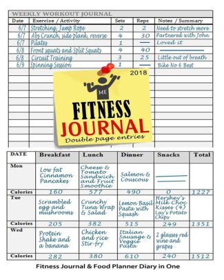 Fitness Journal 2018 Fitness Journal and Food Planner Diary in One