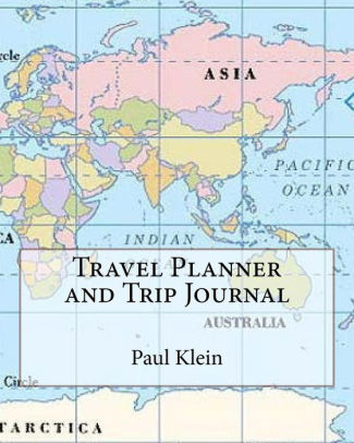 Travel Planner and Trip Journal Inspirational 4 Trips Large 8\