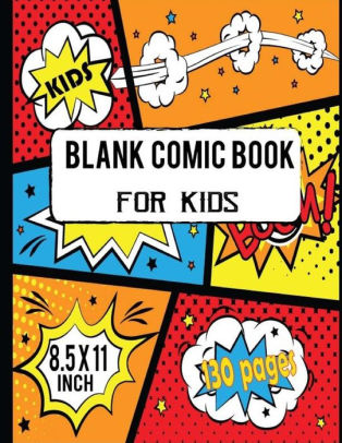 Blank Comic Book For Kids Create Your Own Cartoon and Comics Strips