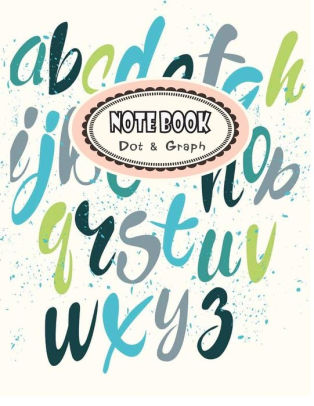 Notebook Dot  Graph Notebook for Writing Letters  Words Dot Graph