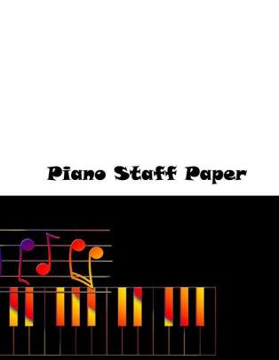 Piano Staff Paper Manuscript Staff Paper Art Piano-Music-Notebook