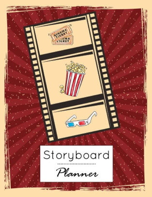 Storyboard Planner Film Storyboading Diary Drawing Sketching Pad 4 Panel,  Visual Storytelling Notebook, Narration Lines, Standard for Storyboard
