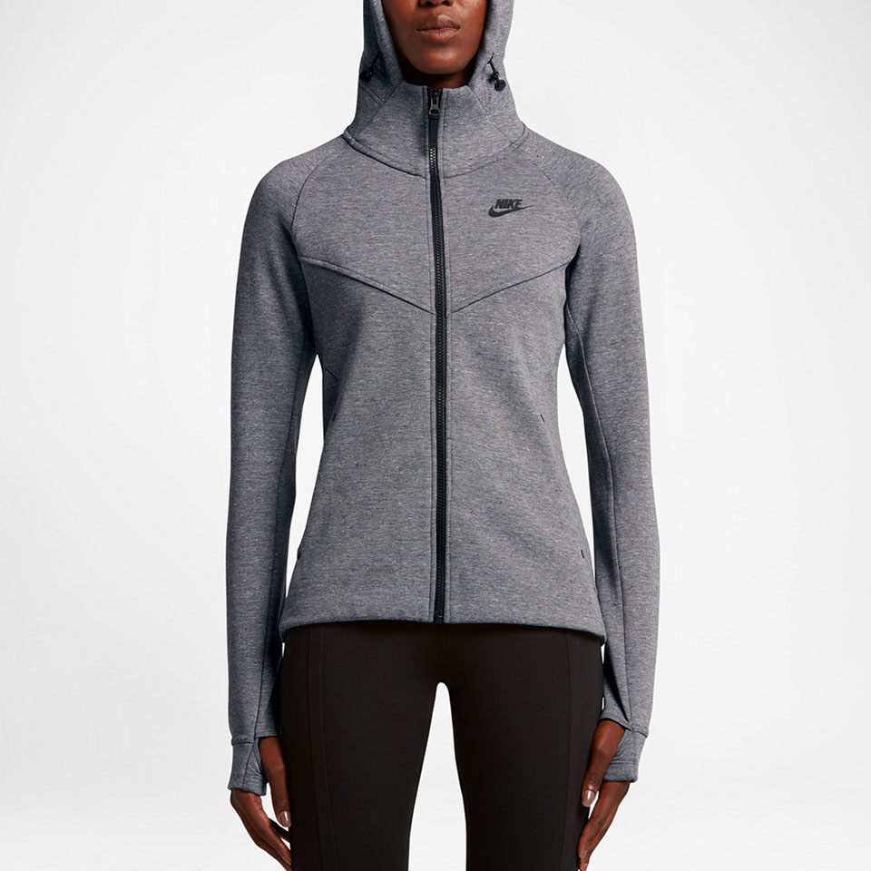 Nike Hoodie Carbon Heather Nike Womens Tech Fleece Fz Hoodie Carbon Heather