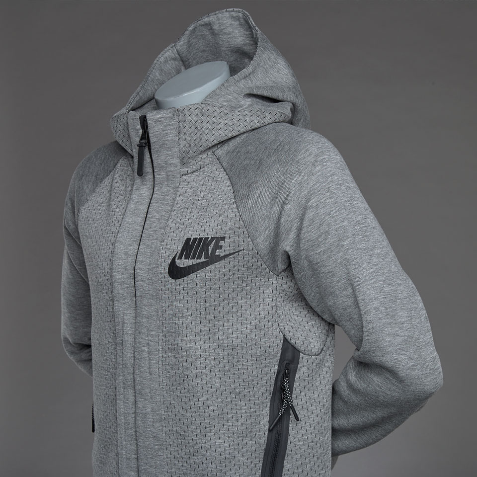 Nike Hoodie Carbon Heather Nike Sportswear Boys Tech Fleece Full Zip Hoodie Carbon Heather
