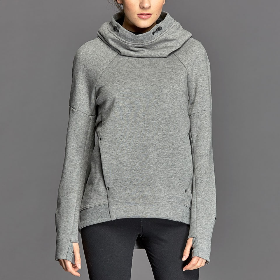 Nike Hoodie Carbon Heather Nike Womens Tech Fleece Hoodie Carbon Heather
