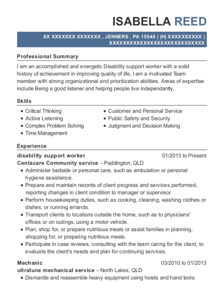 sample resume of director of disability