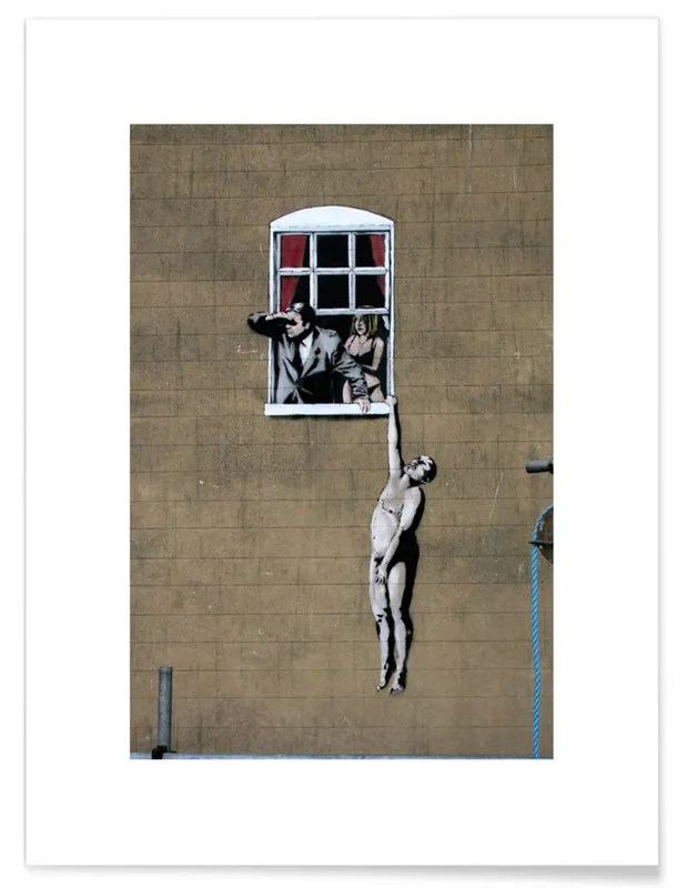 Honeymoon Bettwäsche Banksy Well Hung Lover Poster | Juniqe Ch