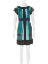 Alberta Ferretti A-Line Silk Dress - Clothing - ALB24154 ...