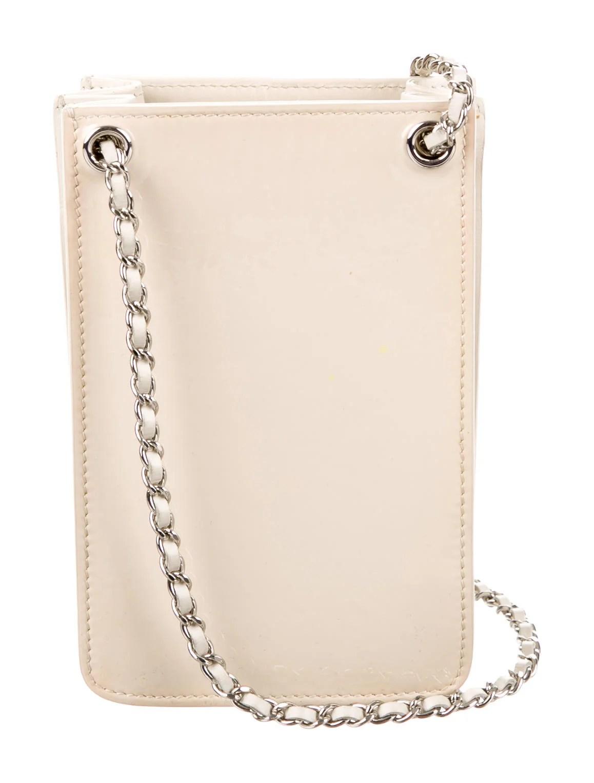 Chanel Patent Crossbody Phone Holder Handbags