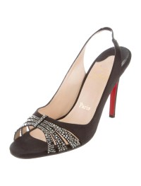 Christian Louboutin Strass Crystal Slingback Pumps - Shoes ...