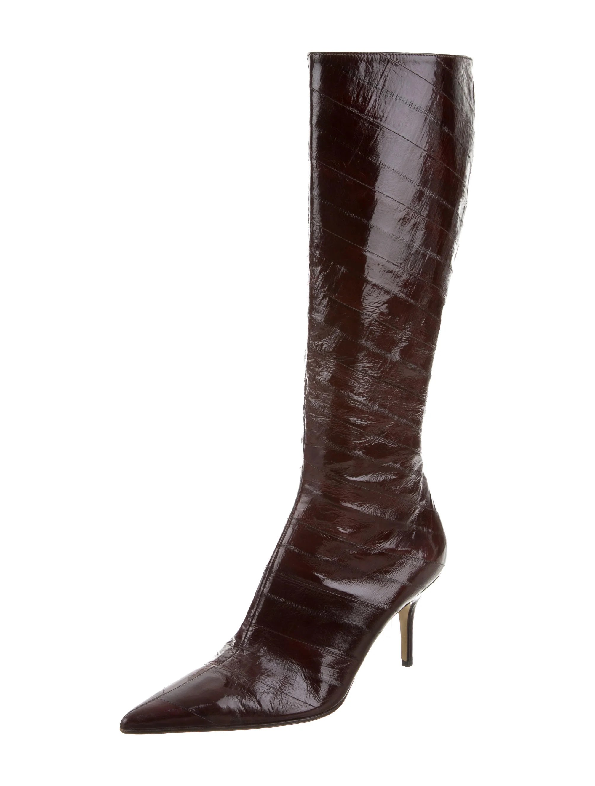 Dolce Gabbana Eel Skin Knee High Boots Shoes