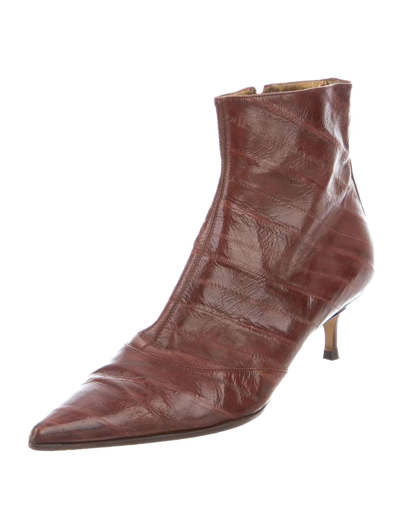 Dolce Gabbana Eel Skin Ankle Boots Shoes Dag76920