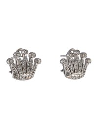 Diamond Crown Earrings - Earrings - EARRI25088 | The RealReal