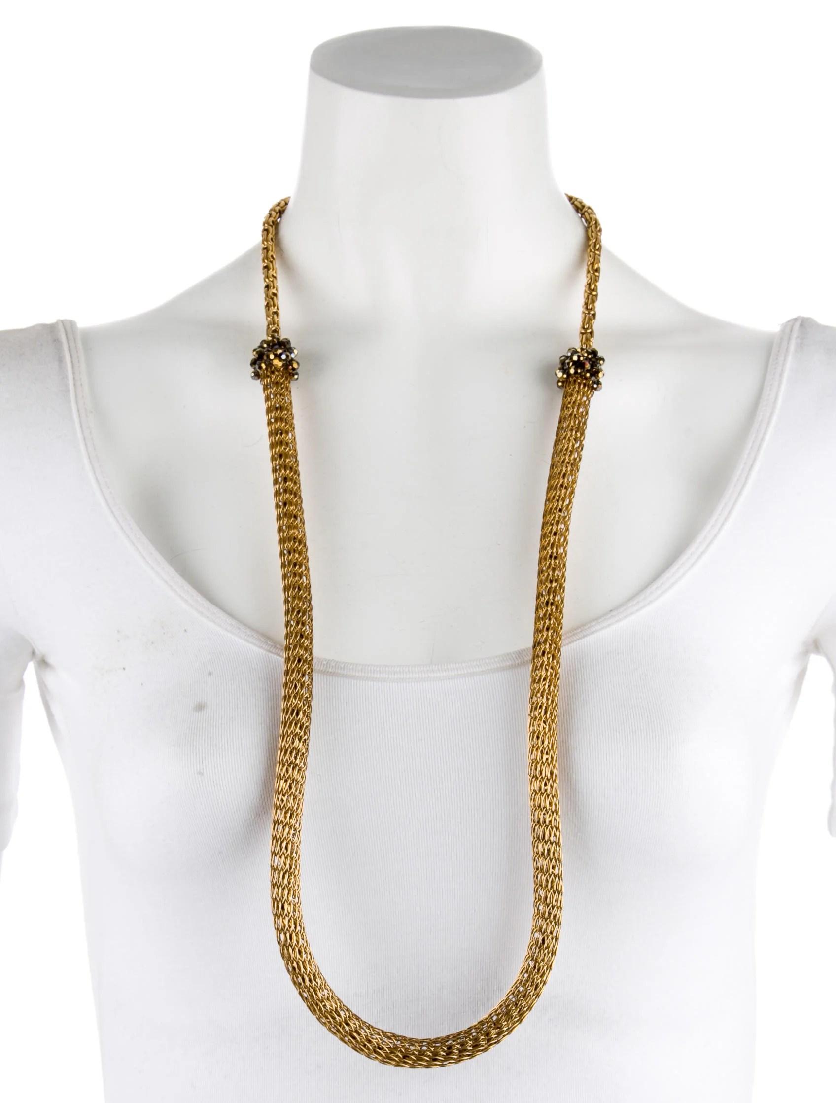 Erickson Beamon Bead Accent Woven Necklace Necklaces