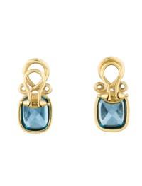 Blue Topaz Clip-On Earrings - Earrings - FJE21330   The ...