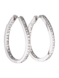 Diamond Inside Out Hoop Earrings - Earrings - FJE26106 ...