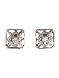 Square Diamond Stud Earrings - Earrings - FJE27319 | The ...