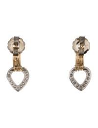 Diamond Heart Drop Earrings - Earrings - FJE28383   The ...