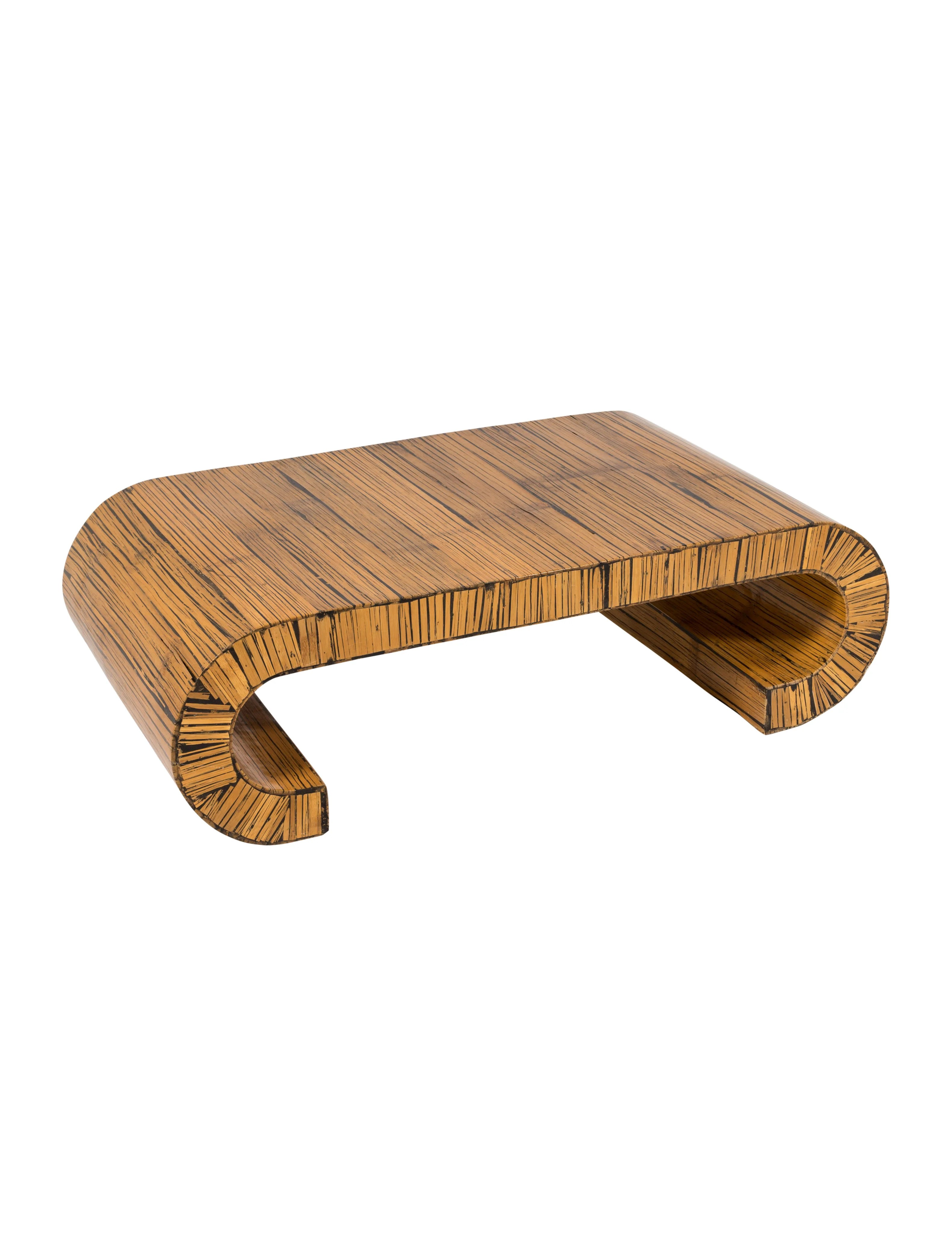 Curved Coffee Table Curved Wood Coffee Table - Furniture - Furni20550 | The