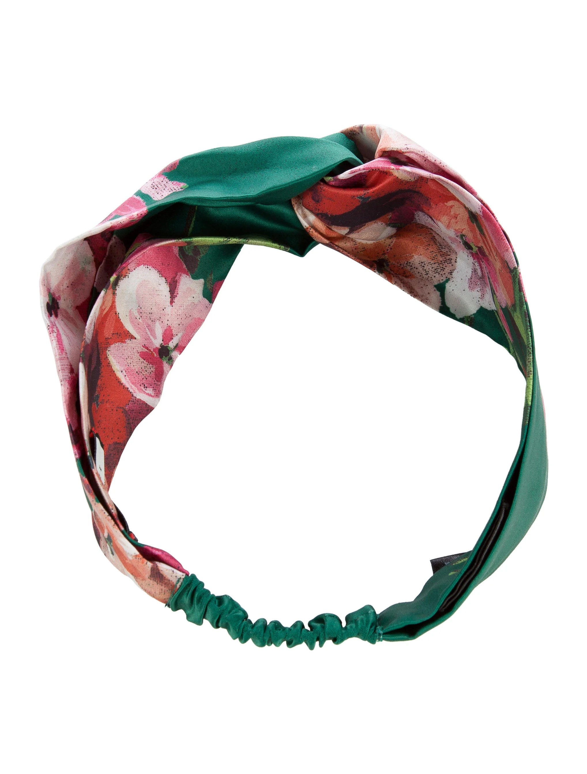 Bloom Accessoires Gucci Blooms Printed Silk Headband Accessories