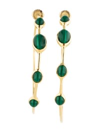 Ippolita Malachite Hoop Earrings