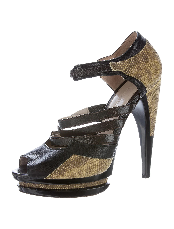 Jason Wu Leather Platform Sandals Shoes Jas23921 The