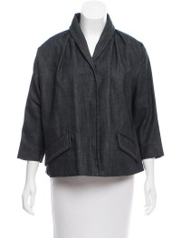 Miu Miu Shawl Collar Denim Jacket - Clothing - MIU49652 ...
