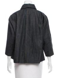 Miu Miu Shawl Collar Denim Jacket - Clothing - MIU49652 ...