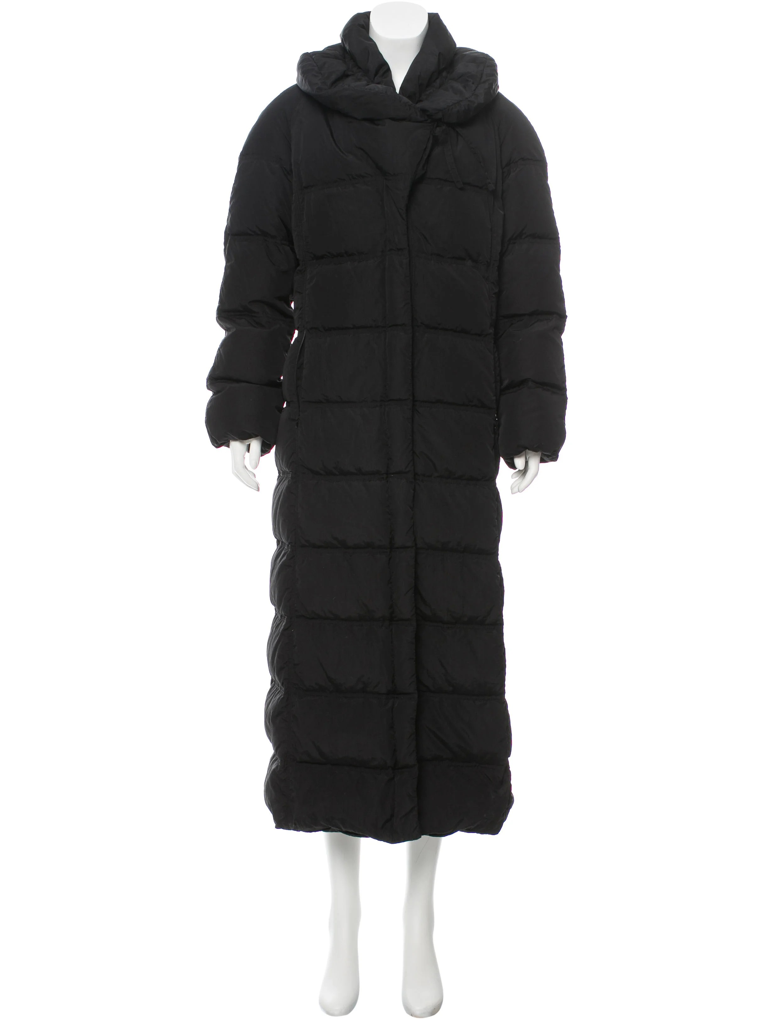 Moncler Shawl Collar Down Coat