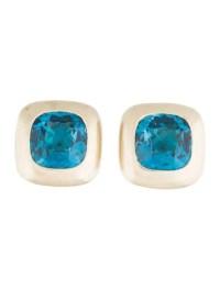 Pasquale Bruni 18K Blue Topaz Clip-On Earrings - Earrings ...