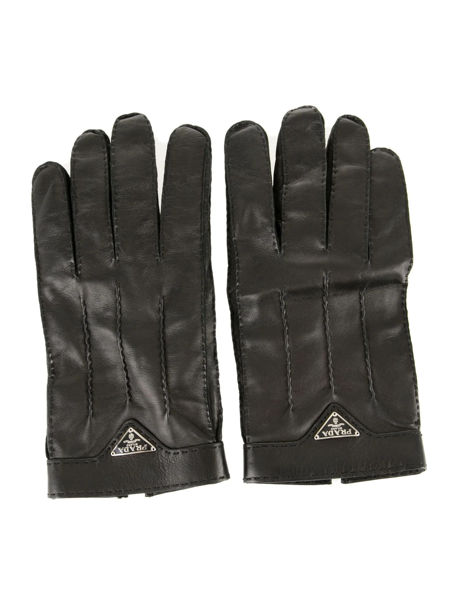 Men accessories prada leather gloves leather gloves