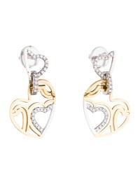 Roberto Coin Diamond Heart Drop Earrings - Earrings ...