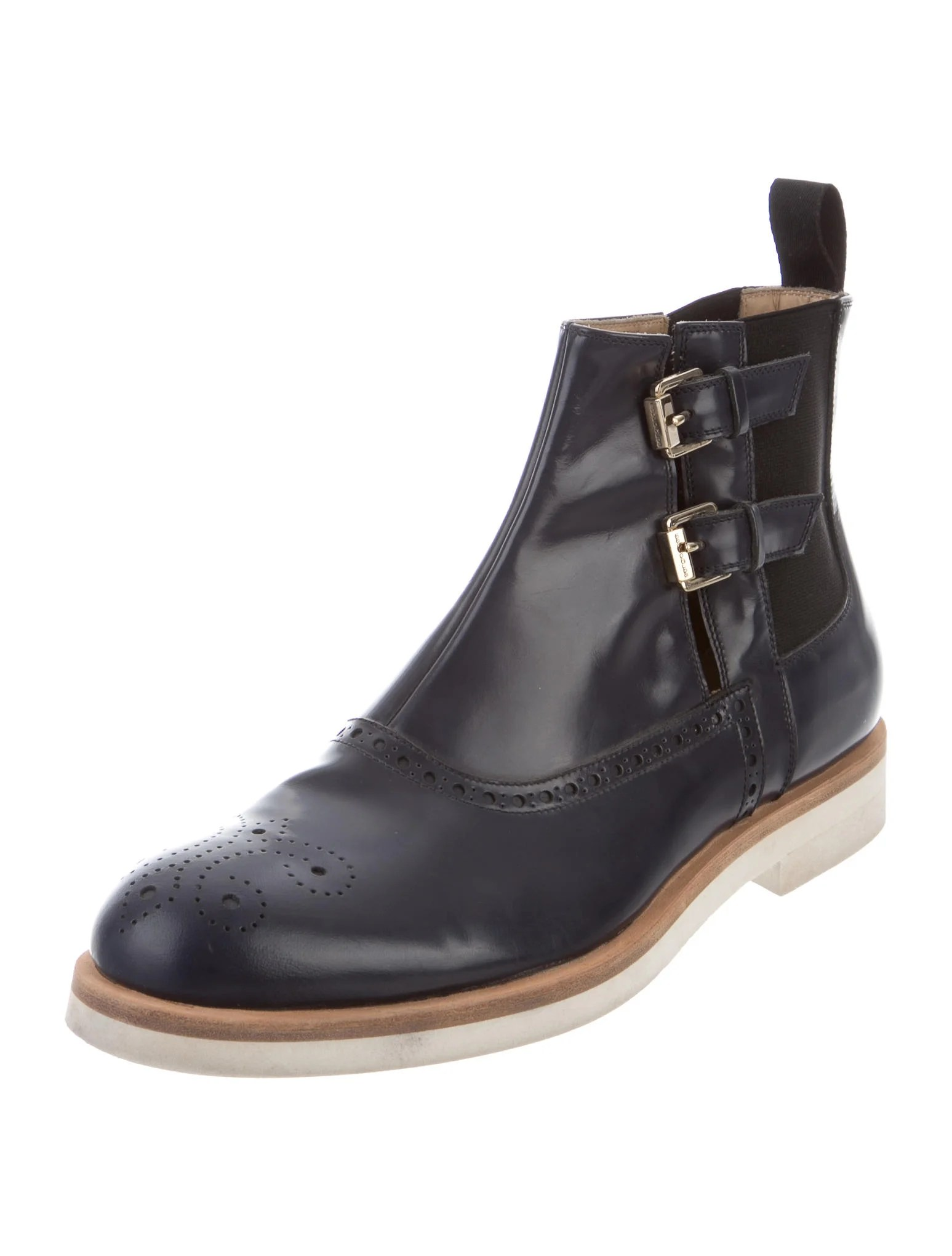 Sergio Rossi Leather Chelsea Boots Shoes Ser28340