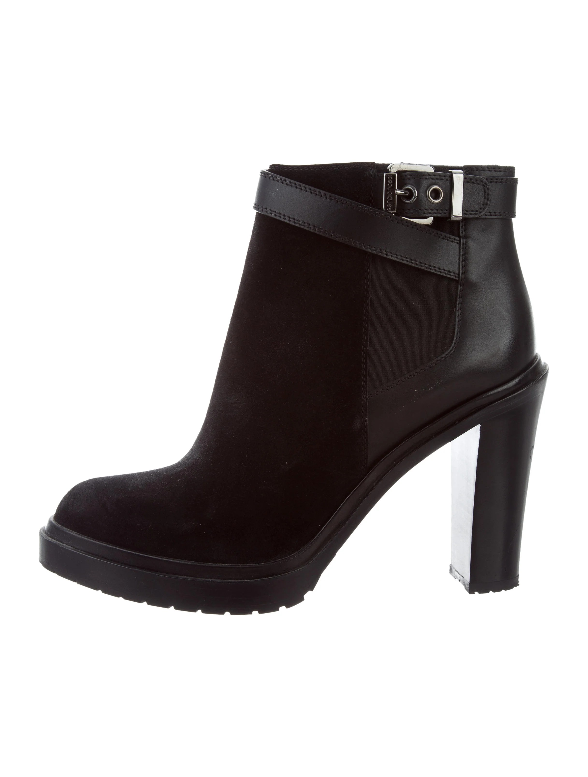 Sergio Rossi Suede Pointed Toe Ankle Boots Shoes